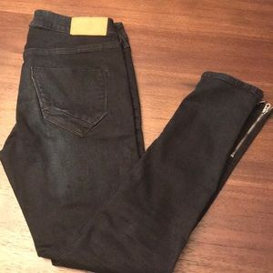 Divided H&M skinny ankle zip jeans, Sz 8